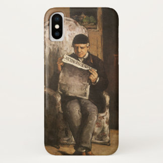 Louis Auguste Cezanne Father Of The Artist Reading iPhone X Case