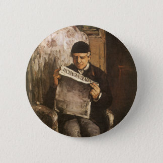 Louis Auguste Cezanne Father Of The Artist Reading Pinback Button