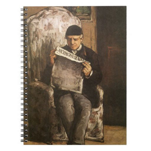 Louis Auguste Cezanne Father Of The Artist Reading Spiral Notebook