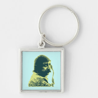 Louis Bleriot - 2 Silver-Colored Square Keychain