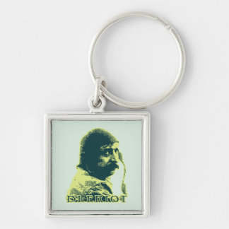 Louis Bleriot - color Silver-Colored Square Keychain