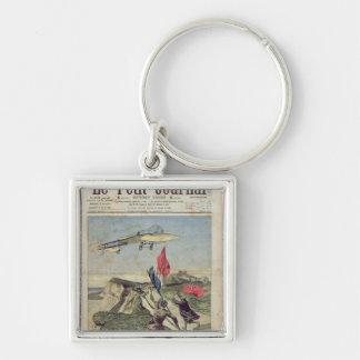 Louis Bleriot  landing at Dover Key Chains