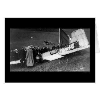 Louis Bleriot Landing His Airplane in Dover 1909 Greeting Card