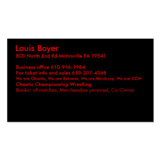 Louis Boyer Business Card