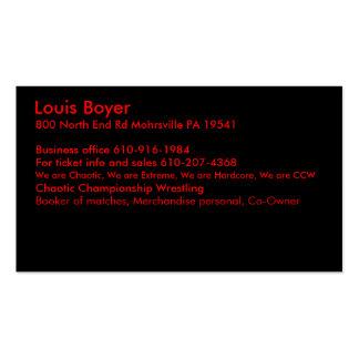 Louis Boyer Tarjeta De Visita
