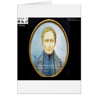 Louis Braille Famous Quote Greeting Card