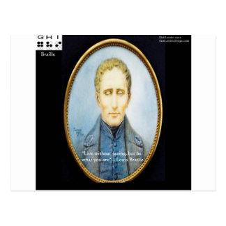 Louis Braille Famous Quote Post Cards