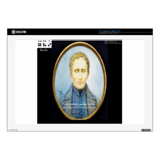 Louis Braille Famous Quote Skins For Laptops