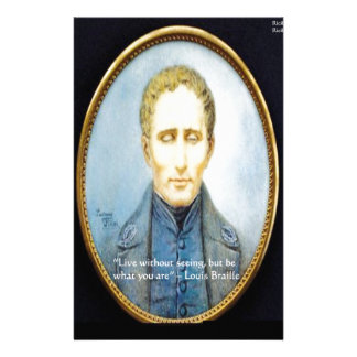 Louis Braille Famous Quote Stationery