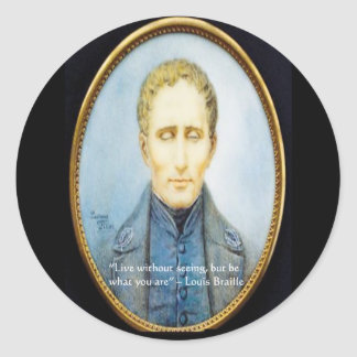 Louis Braille Famous Quote Sticker