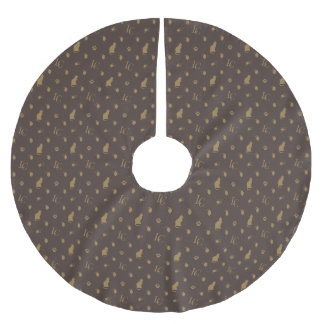 Louis Cat Fluff Luxury Print Brushed Polyester Tree Skirt