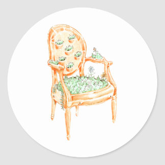 Louis Chair - Material Change - Clay pot Classic Round Sticker