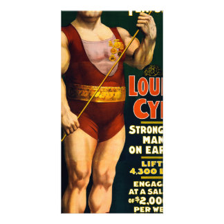 Louis Cyr, Strongest Man on Earth Card