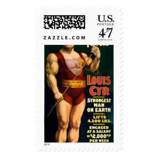 Louis Cyr, Strongest Man on Earth Postage