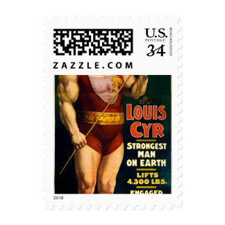 Louis Cyr, Strongest Man on Earth Postage Stamp