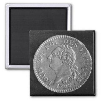 Louis d'or depicting Louis XVI, 1792 2 Inch Square Magnet