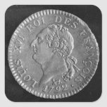 Louis d'or depicting Louis XVI, 1792 Square Sticker