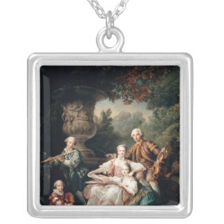 Louis du Bouchet  Marquis de Sourches Silver Plated Necklace