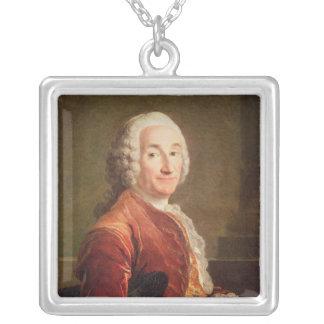 Louis Francois Armand de Vignerot du Plessis Silver Plated Necklace