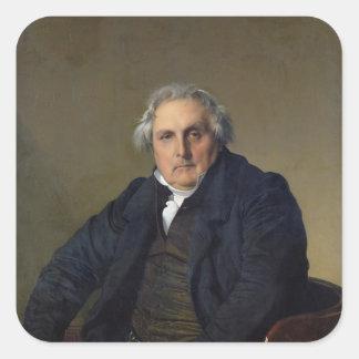 Louis-Francois Bertín 1832 Pegatina Cuadrada
