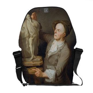 Louis-Francois Roubiliac (1695-1762) Modelling his Courier Bags