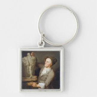 Louis-Francois Roubiliac (1695-1762) Modelling his Keychain