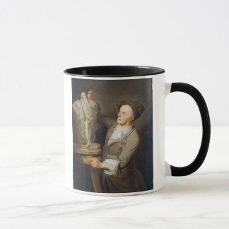Louis-Francois Roubiliac (1695-1762) Modelling his Mug