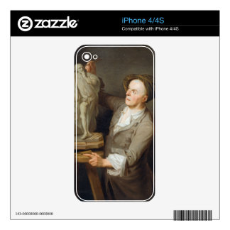 Louis-Francois Roubiliac (1695-1762) Modelling his Skins For The iPhone 4S