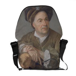 Louis Francois Roubiliac (1702-62) (pastel on pape Courier Bags
