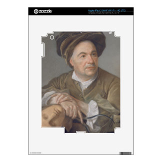 Louis Francois Roubiliac (1702-62) (pastel on pape iPad 3 Decal
