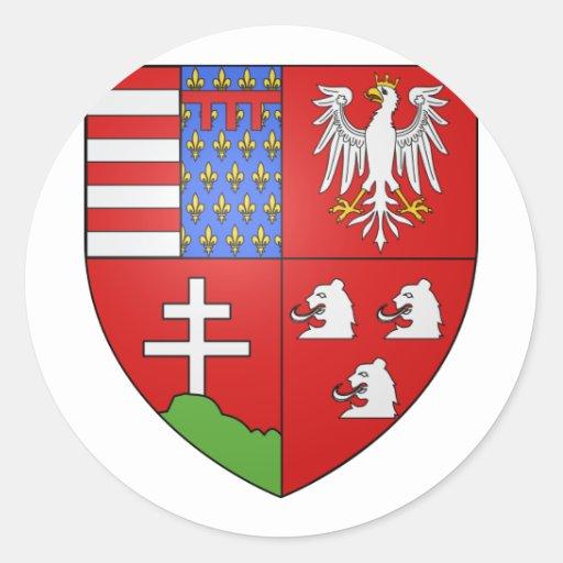 Louis Ier de Hongrie , Hungary Round Sticker