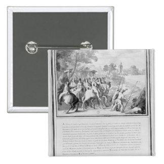 Louis II de Borbón Príncipe de Conde con Pin Cuadrada 5 Cm