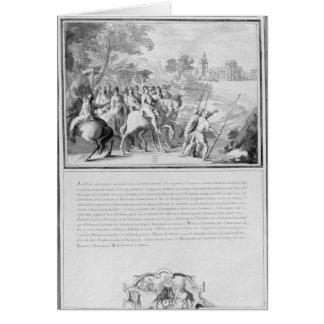 Louis II de Bourbon  Prince of Conde with Card
