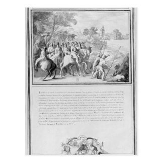 Louis II de Bourbon  Prince of Conde with Postcard