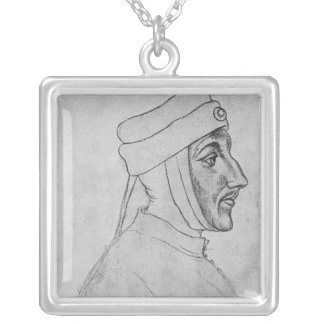Louis II of Flanders Silver Plated Necklace