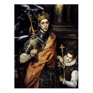 Louis IX of France Postcard