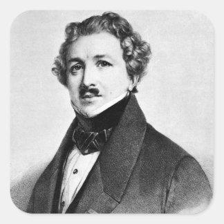Louis Jacques Mande Daguerre Square Sticker