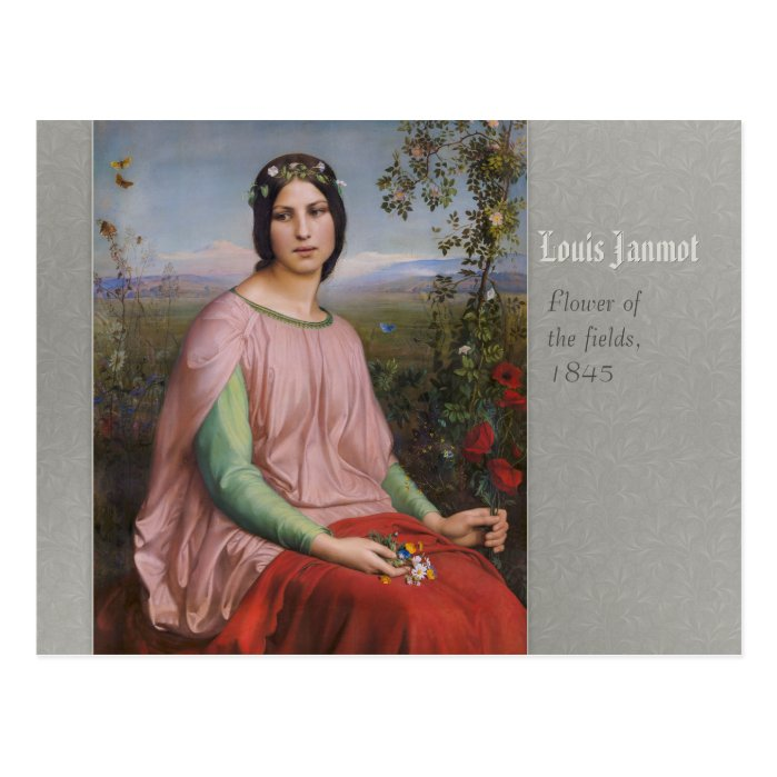 Louis Janmot Flower of the fields CC0773 Postcard