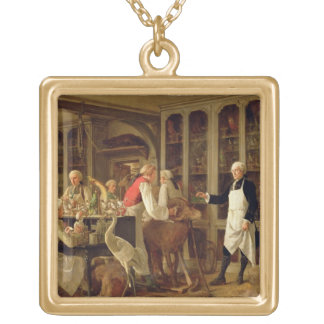 Louis Jean Marie Daubenton (1716-99) in his Labora Gold Plated Necklace