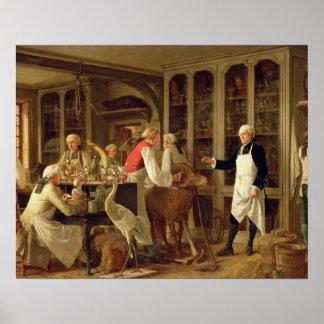 Louis Jean Marie Daubenton (1716-99) in his Labora Poster