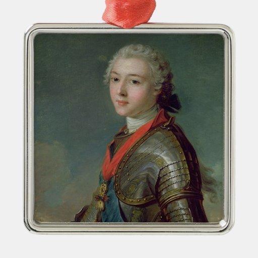 Louis Jean Marie de Borbón Adorno Cuadrado Plateado