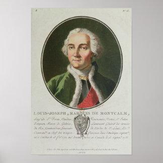 Louis-Joseph de Montcalm  1790 Print