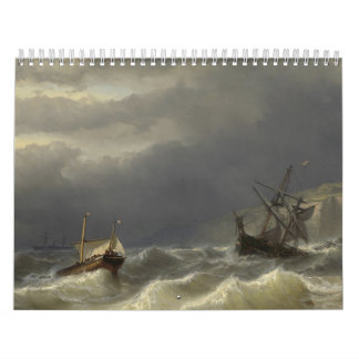 Louis Meijer - Storm in het Nauw van Calais Wall Calendars