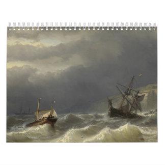 Louis Meijer - Storm in het Nauw van Calais Calendar