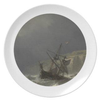 Louis Meijer - Storm in het Nauw van Calais Dinner Plate