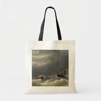 Louis Meijer - Storm in het Nauw van Calais Tote Bag