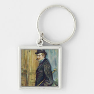 Louis Pascal, 1891 Silver-Colored Square Keychain
