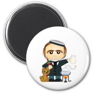 Louis Pasteur 2 Inch Round Magnet