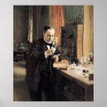 Louis Pasteur en su laboratorio, 1885 Posters
