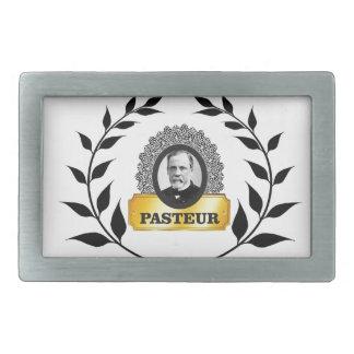louis pasteur in a cube rectangular belt buckle